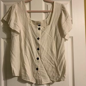 Cute cream blouse from Target